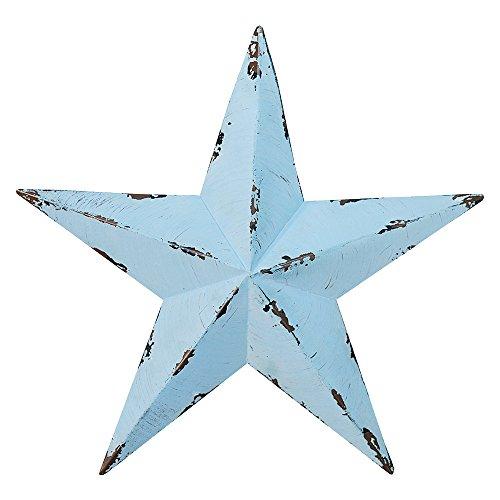 Gluck アンティーク調 ブリキ の 星の オーナメント バーンスター M 24cm ブルー