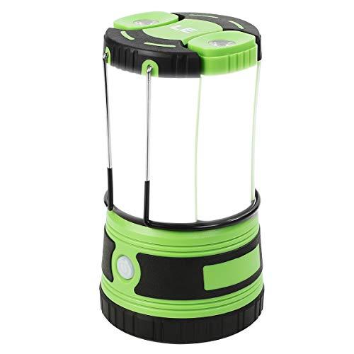 LEPRO LED Campinglampe USB, Ultra Hell 1000 Lumen, 4 Beleuchtungsmodi Laterne mit 2 abnehmbaren Taschenlampen, Batteriebetrieben und USB Notfallleuchte für Stromausfällen, Wandern, Notfall, Ausfälle
