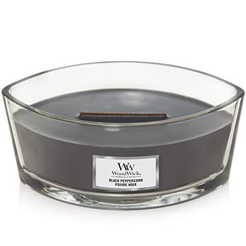 WoodWick ellipsenförmige Duftkerze mit knisterndem Docht   Black Peppercorn   Brenndauer bis zu 50Stunden