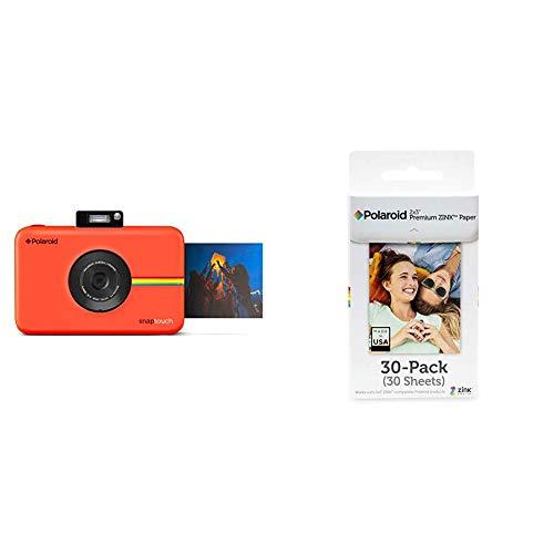 Polaroid Snap Touch, Fotocamera digitale a stampa istantanea Zink Zero & Premium ZINK Carta Fotografica 2 x 3 Pollici, Compatibile con Polaroid Snap, Snap Touch Z2300