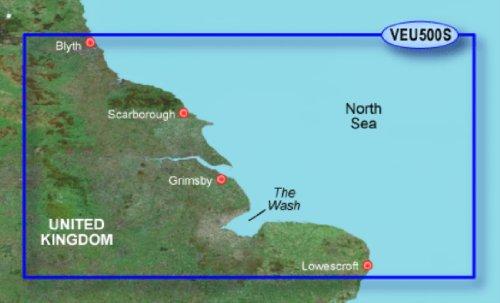 Garmin BlueChart g3 Vision Seekarte Region Europa, Abdeckungsbereich VEU500S - Blyth bis Lowestoft, Kartengröße Small