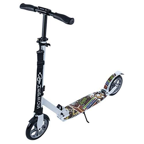 Hepros ABEC7 - Patinete de ruedas para bicicleta de 200 mm, color blanco