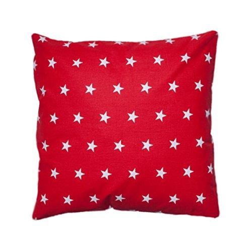 Amilian® Dekokissen Kissenbezug Kissen 80cm x 80cm Sternchen rot