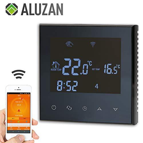 Slimme programmeerbare kamerthermostaat Aluzan Class E-16 wifi met gratis app (iOS/Android) voor afstandsbediening, drijft direct elektrische warmtebronnen aan zoals vloerverwarming, elektrische kachels, infrarood verwarmingspanelen enz.