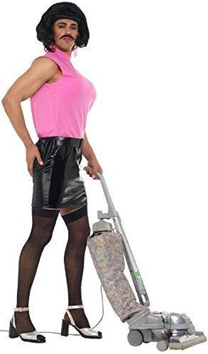 Fancy Me Uomo TARTY CANTANDO CASALINGA Drag Queen Divertente Notte Addio al Celibato Commedia Divertente Costume Vestito - Medium