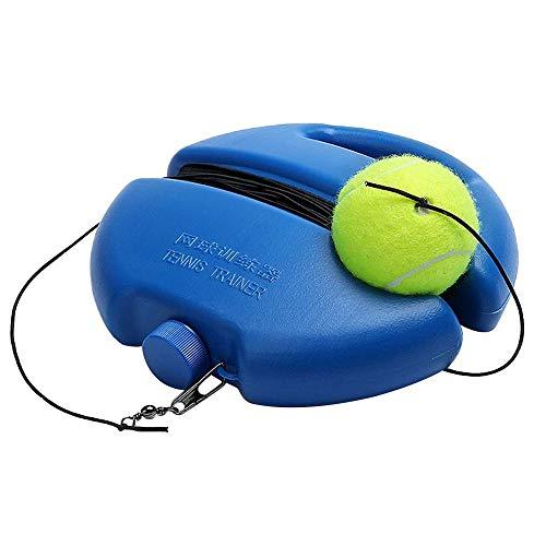 Voberry New Tennisball Trainer Tennis Baseboard mit Einem Seil und 1 Trainingsball Tennis Selbststudium Praxis Training Tool für Anfänger Kinder Erwachsene (# 01 1xTennis Training Base Board)