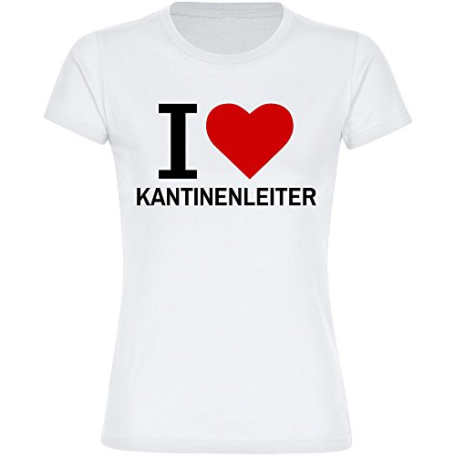 T-shirt Classic I Love kantine ladder wit dames maat S tot 2XL