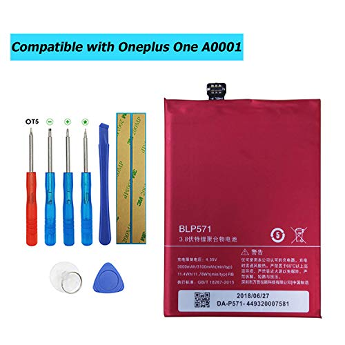 Upplus BLP571 - Batería de Repuesto Compatible con Oneplus One 1+ A0001 con Kit de Herramientas