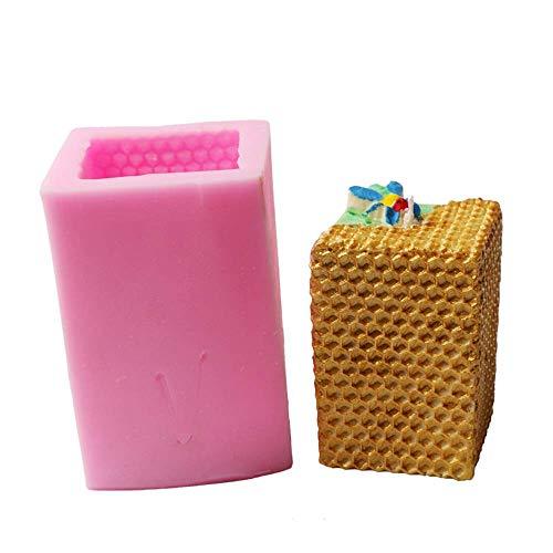 3D Bienenenwaben-Silikon-Kerzen-Formen für Kerzenherstellung, handgefertigte Bienenwachskerzen, Seife, Kunstharz, für Weihnachten, Hochzeit, Party-Dekoration