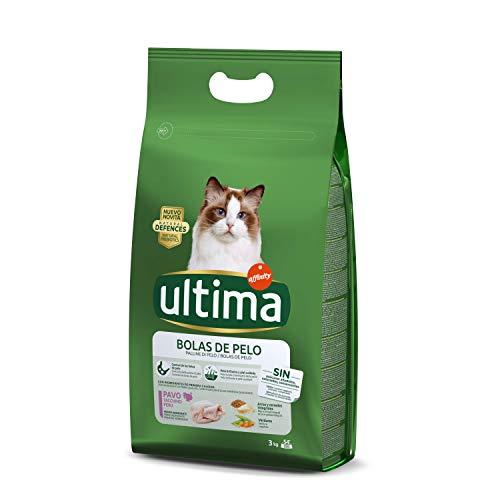 ultima Pienso para Gatos para Prevenir Bolas de Pelo con Pavo - 3kg