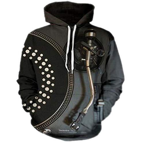 Música DJ Disco Negro Sudadera Impresa en 3D Sudaderas Sudaderas Hombre/Mujer Sudaderas Hip Hop Chándales Streetwear 03 XXL