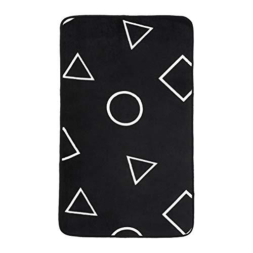 Amazon Basics, Tappetino in schiuma, con stampa, motivo forme geometriche - 60 x 100 cm