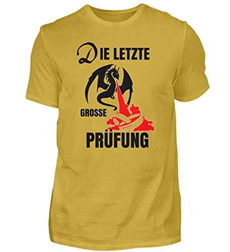 generisch Camiseta de manga corta para hombre, diseño con texto en alemán, oro amarillo, S