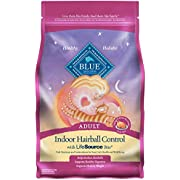 Blue Buffalo Indoor Hairball Control Natural Adult Dry Cat Food, Chicken & Brown Rice 3-lb