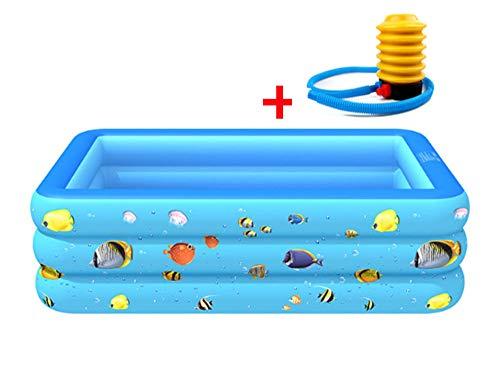 QWET Piscina Inflable, Piscina Hinchable Familiar de tamaño Completo para niños y Adultos, Centro de natación para Mayores de 3 años, Piscina para Fiesta de Verano en el Agua,3m