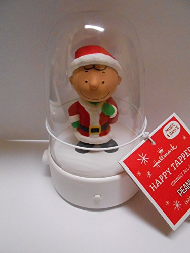 Peanuts 2016 Happy Tappers Charlie Brown Santa Claus Animated Musical Figurine