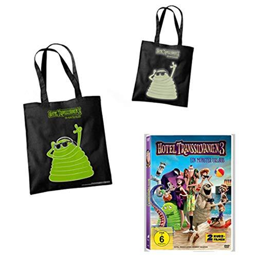 """Hotel Transsilvanien 3 - Ein Monster Urlaub - DVD + """"Glow in the dark"""" Tasche"""