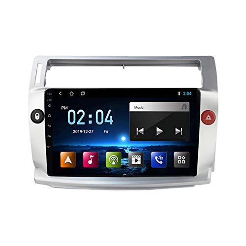 Android 10.0 9 Pulgadas Radio Coche 2 DIN para Citroen C4 2004-2009 Autoradio con WiFi/GPS/Bluetooth/USB/FM/SD, Admite Mandos del Volante 1080P Video,Quad Core,4G WiFi 1+32