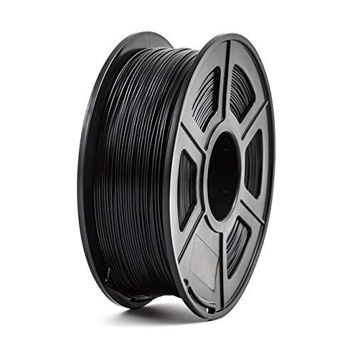 3D-Drucker Filament PLA 1,75 mm 1 kg / 2,2 lbs 3D Kunststoff-Verbrauchsmaterial-Material 3D-Filament kleine Spule 3D-Drucker PLA Filament 3D Pen Filament Refills (Color : Black)