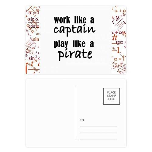DIYthinker werk als Captain spelen als piraat Formule Postkaart Set Thanks Card Mailing Side 20 stks 5.7 inch x 3.8 inch Multi kleuren