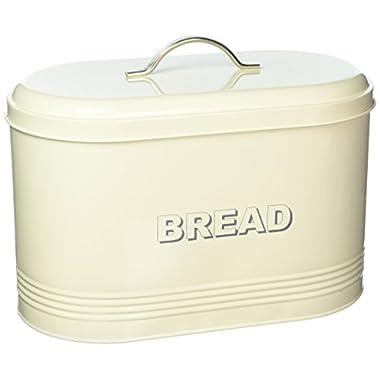 The Leonardo Collection LP22224 Sweet Home Bread Storage Tin, Cream