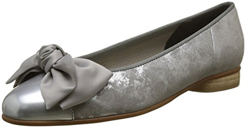 Gabor Shoes Damen Basic Geschlossene Ballerinas, Grau (Silber/Grau), 40 EU