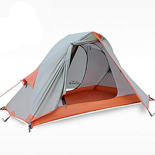 HEWOLF Campingzelt 1 Personen Zelt Ultraleichtes Rucksackzelt Kuppelzelt Wasserdicht Angelzelt Firstzelte Professionelle Abenteuerzelte Fahrrad Trekking Zelt Winterzelt mit Kleinem Packmaß