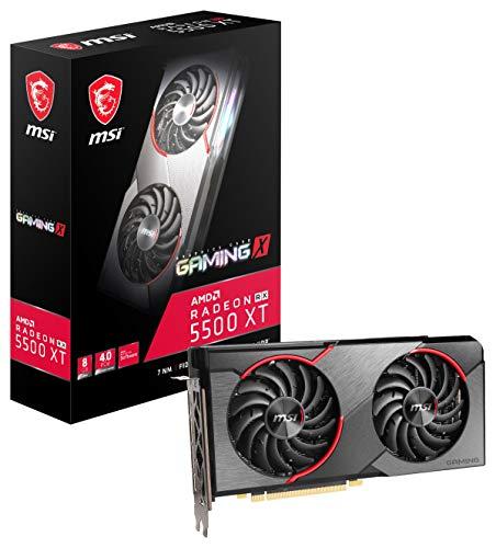 MSI Gaming Radeon RX 5500 XT Boost Clock: 1845 MHz 128-bit 8GB GDDR6 DP/HDMI Dual Torx 3.0 Lüfter Crossfire Freesync VR Ready Grafikkarte (RX 5500 XT Gaming X 8G)