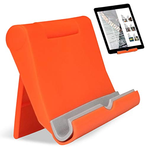 sostegno tablet Regolabile Supporto Supporto Tablet Universale Telefono Supporto per Tablet Multi-Angolo Portatile Tablet Multicolore JAANY(Orange)