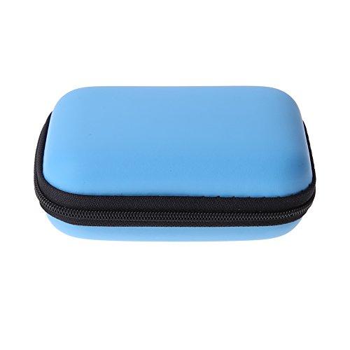 Domybest mini-hoofdtelefoon, EVA, bluetooth-hoofdtelefoon, opbergbox voor kabel, lichtblauw