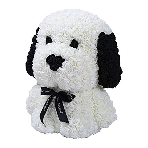 Fancylande cadeau voor de hond met kunstmatige rozen, geschenk voor het afstuderen van je beste vriend op de dag van kaarten, hoofddecoratie van de slaap op Valentijnsdag