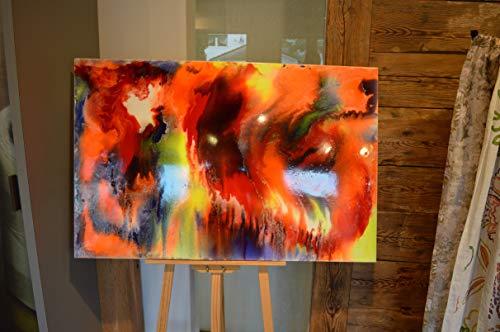 Explosiv, Resin, Kunstharz, Acryl, Leinwand, glänzend, bunt, leuchtend,120x80cm