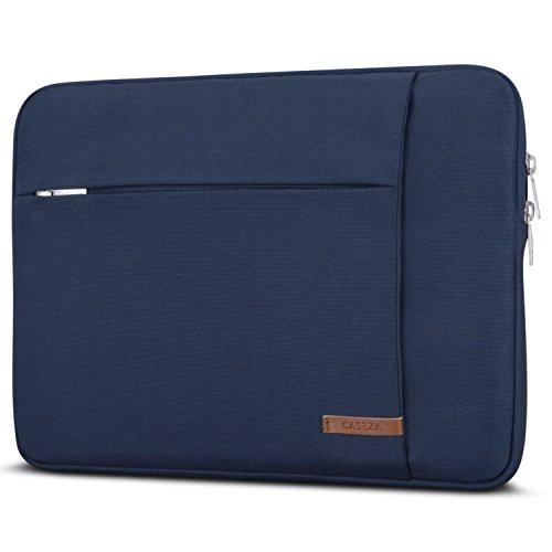 """CASEZA Funda Portátil 14'' / MacBook Pro 15"""" Azul - Bolsa London Portátil de 14'', MacBook Pro 15"""", DELL XPS 15, HP Acer ASUS & más - Funda de Ultrabook 14"""" Resistente al Agua con Dos Bolsillos"""