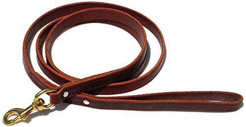 Signature K9 Standard Leather Leash, 6-Feet x 3/4-Inch, Burgundy