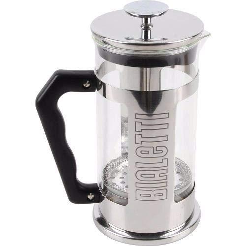 Bialetti 3190 Coffee Press Omino, Caffettiera pressofiltro, capacità 1 Litro (8 tazze), Acciaio Inox