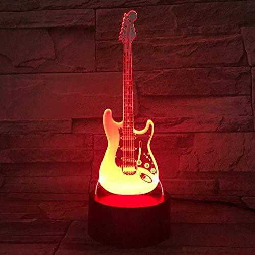 3D Night Light Viool USB 3D LED Night Light Multicolor RGB Jongens Cadeaus voor kinderen muziekinstrument IL Viool tafellamp nachtkastje