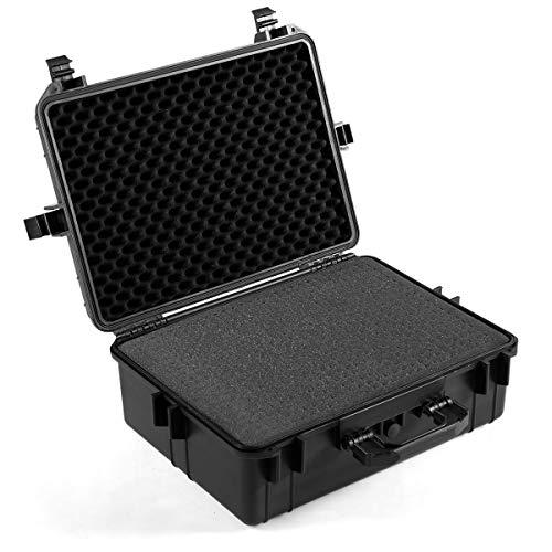 Goplus Weatherproof/Shockproof Hard Camera Case, Dustproof Camera Lens Box with Customizable Foam & Ergonomic Handle, IP55 Level Water Protection up to 1 Meter Depth (20.5')