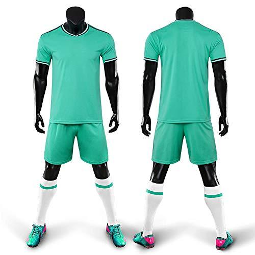 WQJIE Trainingspak jersey voetbalpak, korte mouwen sportkleding pak, mannen, running T-shirt Retro Large Kleur