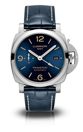 Modelo exclusivo Panerai Luminor GMT - 44 mm PAM01033 esfera azul