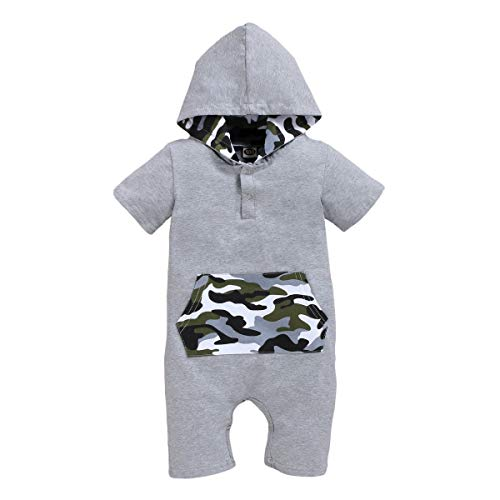 OPAWO Baby Hooded Cotton Rompers...