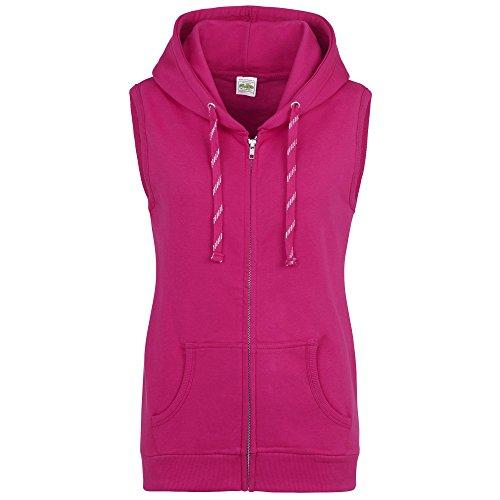 AWDis Just Hoods Damen Girlie Kapuzenweste (Large) (Dunkles Pink)