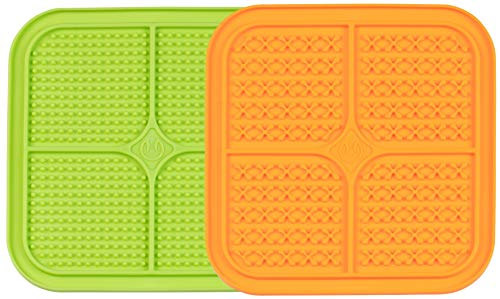 Hyper Pet IQ Treat Mat | Made in USA | Dog Lick Mat & Fun Alternative to Slow Feeder Dog Bowls & Snuffle Mat for Dogs | Boredom Buster | Calming Mat for Dog Anxiety Relief | Just Add Healthy Treats
