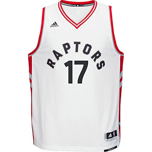adidas Jose Valanciunas Toranto Raptors #17 NBA Youth White Swingman Home Jersey (Medium 10/12)