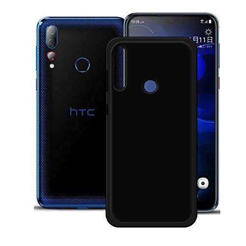 DQG Anti-Fall Schutzhülle für HTC Desire 19+/ Plus Hülle, Weiche Flexibel Handytasche Schwarz TPU Handyhülle Silikon Tasche Schale Hülle Cover für HTC Desire 19+/ Plus (6.2