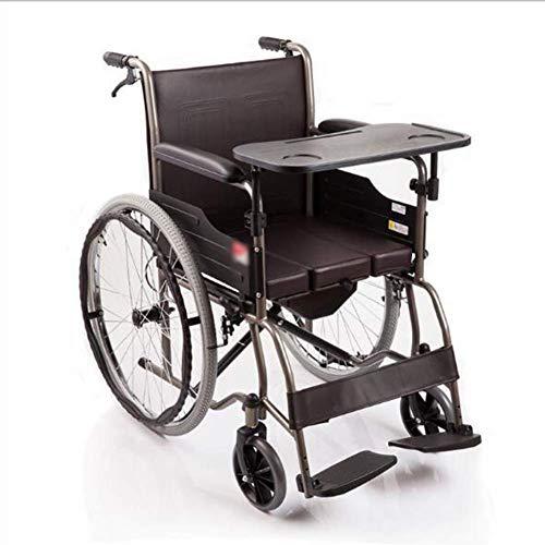 Sedia a rotelle Pieghevole Sedile ergonomico e Schienale Sedie a rotelle per Anziani Design Semi reclinato con Schienale Alto Leggero e Confortevole