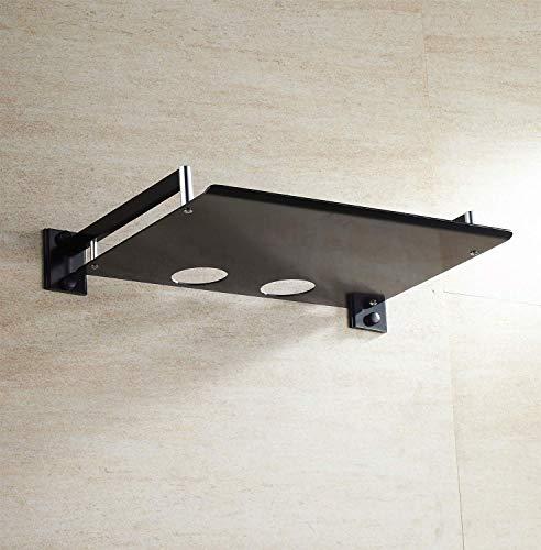 Einfache und praktische Aufbewahrungsbox für Router aus Aluminium, einlagig, amerikanisches Schwarz, Set-Top-Box zur Wandmontage, doppellagige Router-Halterung (Größe: Dan) Dan siehe abbildung