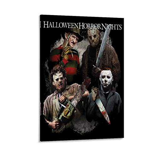 Póster de la película de terror Michael Myers Texas, matanza de motosierra de Halloween, Noches de terror en lienzo, póster y arte de pared, diseño moderno de la familia de 50 x 75 cm