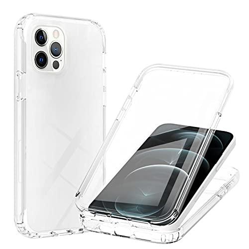 SCRENDY Funda Xiaomi Redmi Note 10 Pro/Pro MAX, Antigolpes con Protector de Pantalla Incorporada Anti-rayones, [Anti-Amarilleo] [Protección de 360°] Case Transparente Carcasa, Transparente