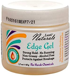Lusti Shea Butter Edge Gel, 2.4 fl oz (Set of 3) - Strong Hold - No-Running, Non-Greasy - Alcohol-Free - Protects Against Breakage