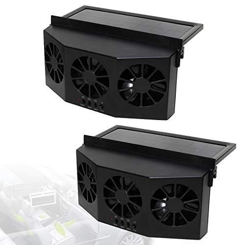 Ventilador Radiador Coche PortáTil, Reciclar Ventilador Escape Coche EnergíA Solar Ruido Bajo, Car Ventilador Radiador Enfriar Rapidamente VentilacióN Vigorosa,D